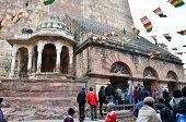 Jodhpur, India - January 1, 2015: Tourist Visit Mehrangarh Fort In Jodhpur, India