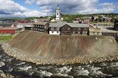 View to the copper mines town of Roros, Norway.