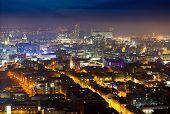 Liverpool City at night, England