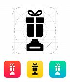 Best gift icon on white background.