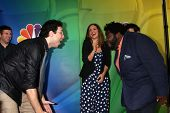 LOS ANGELES - JAN 16:  Rick Glassman, Bianca Kajlich, Ron Funches at the NBC TCA Winter 2015 at a The Langham Huntington Hotel on January 16, 2015 in Pasadena, CA