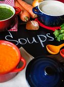 Постер, плакат: Healthy Dinner Vegetable Soup
