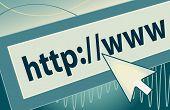 Internet Address With Cursor Icon