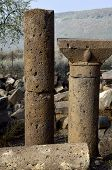 Ancient Columns In Umm El Kanatir, Israel