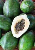 Green Papaya Fruit & Seeds