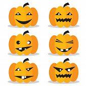 Pumpkins Halloween Set.