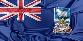 picture of falklands  - Flag of Falkland Islands waving in the wind - JPG