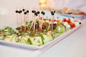 pic of canapes  - Luxury food on wedding table  - JPG