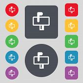 image of mailbox  - Mailbox icon sign - JPG