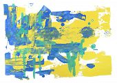 pic of abstract painting  - abstract art background hand drawn rough brush stroke painting - JPG