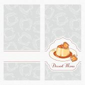 picture of dessert plate  - Dessert menu template design for cafe - JPG