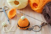 picture of thread-making  - Making of handmade colorful crochet sweets toys  - JPG