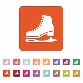 stock photo of skate  - The skates icon - JPG