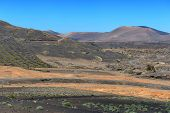 pic of canary-islands  - wild volcanic landscape at Lanzarote Island Canary Islands Spain - JPG
