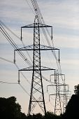 Power Pylons Silhouette