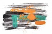 image of abstract painting  - abstract art background hand drawn rough brush stroke painting - JPG