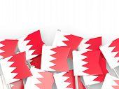 stock photo of bahrain  - Flag pin of bahrain isolated on white - JPG