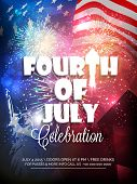 stock photo of nationalism  - Stylish text Fourth of July - JPG