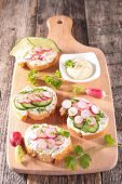 picture of cucumber  - bruschetta with cheese - JPG