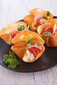 image of canapes  - buffet food - JPG