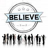 stock photo of worship  - Believe Hope Inspiration Religion Worship Concept - JPG