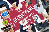 image of recruitment  - Recruitment Qualification Mission Application Employment Hiring Concept - JPG