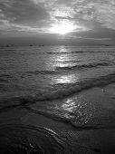 Sunset Hawaii Black And White