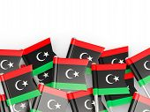 picture of libya  - Flag pin of libya isolated on white - JPG