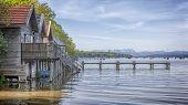 stock photo of bavaria  - A hdr image of the Ammer Lake at Stegen Bavaria Germany - JPG