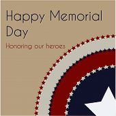 pic of memorial  - Colored background with text and elements for memorial day - JPG