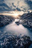picture of shoreline  - The Shoreline Sunset - JPG