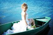 Beautiful Bride In The Boat