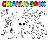 Coloring Book With Aliens