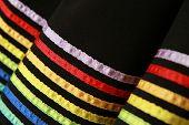 Colorful hem of fashion skirt