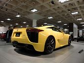 Lexus Lfa Speedy Car On Display At Auto Show