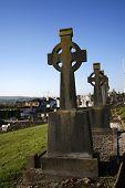 Celtic Crosses In Irish Town