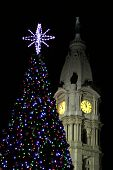 Clocktower At Christmas