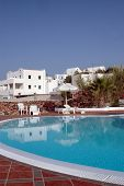 Hotel Pool With Greek Island Architecture