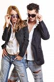 Fashion Couple With Sunglasses