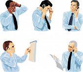 Man Speaks On Telephone.
