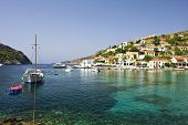 Port Of Assos In Cephalonia In Greece