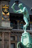 Grote Markt Antwerp Brabo Statue Close
