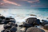Australian Beach At Sunset