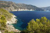 Coastal Landscape In Kefalonia In Greece