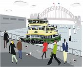Sydney ferry illustration