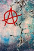 Dirty Wall With Anarchy Symbol