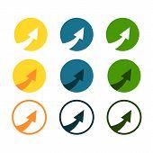 Eps 10 Vector Arrow Icon. Arrow Abstract Logo Template. Up Arrow, Cursor Arrow Icon, Arrowheads. Arr poster