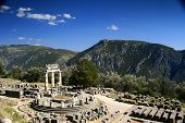 Delphi - Tholos At Late Afternoon