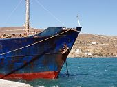 Detail Of Old Cargo Ship - Andros, Greece