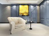 A contemporary elegant sofa